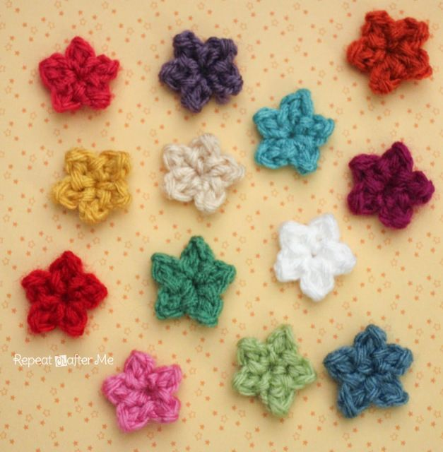 Teeny Tiny Crochet Stars - free crochet tutorial by Repeat Crafter Me