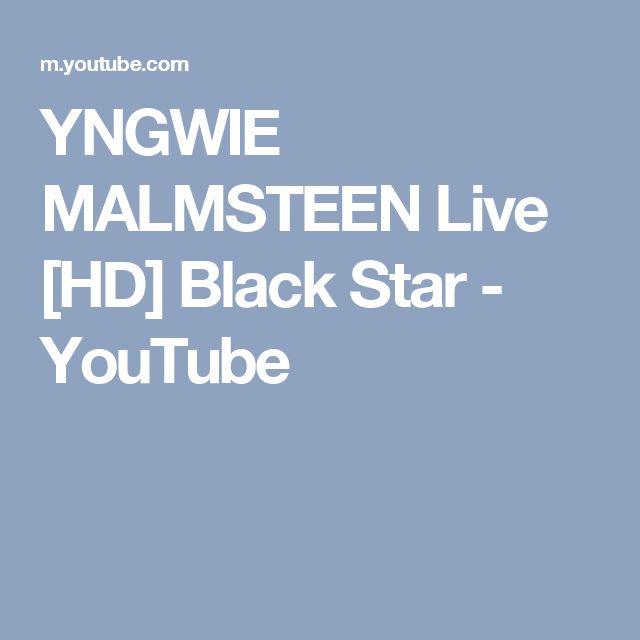 YNGWIE MALMSTEEN Live [HD] Black Star - YouTube