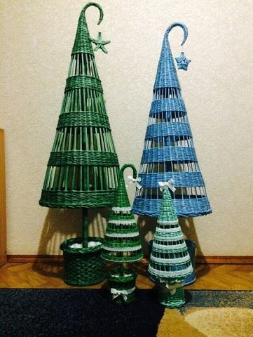 Wicker work Christmas trees