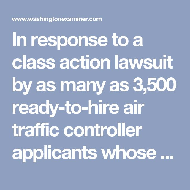 """In response to a class action lawsuit by as many as 3,500 ready-to-hire air traffic controller applicants whose names were """"purged"""" so the Federal Aviation Administration could hire based on race, federal lawyers asserted that the administration is immune from liability for denying constitutional equal protection because of sovereign immunity."""