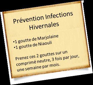infections hiver et huile essentielle de marjolaine