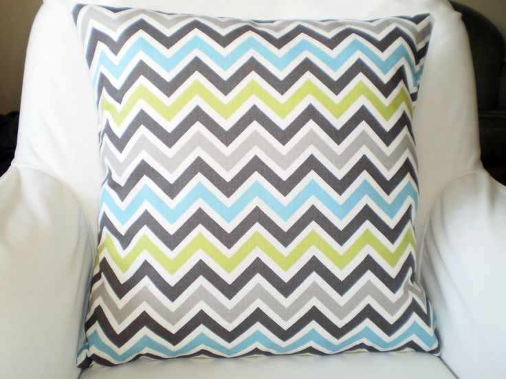 Blue Green Gray Chevron Pillows, Nursery Pillows, Childrens Throw Pillow, Cushion Cover, Grey Zoom Zoom Baby Pillow, One or More All Sizes by PillowCushionCovers on Etsy https://www.etsy.com/listing/210668126/blue-green-gray-chevron-pillows-nursery