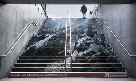 Parkinsons Disease Stairs. Realization of what my dad must be going through.