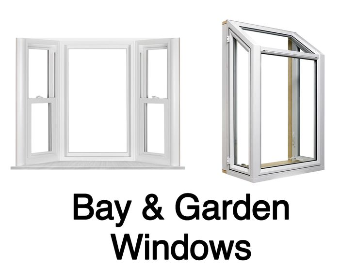 Bay windows add dimension & seating to your home. Garden windows provide space for foliage, photos, and decor. Both project outward.