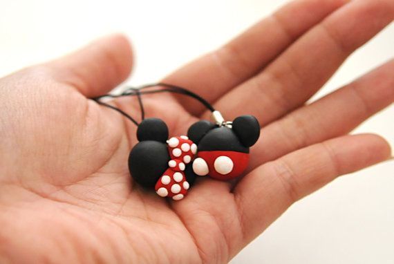 MICKEY or MINNIE Polymer Clay Charm