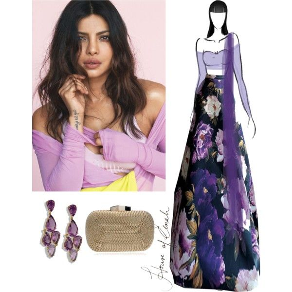 Priyanka Chopra's Purple Rain | HouseOfEenah.com by houseofeenah on Polyvore