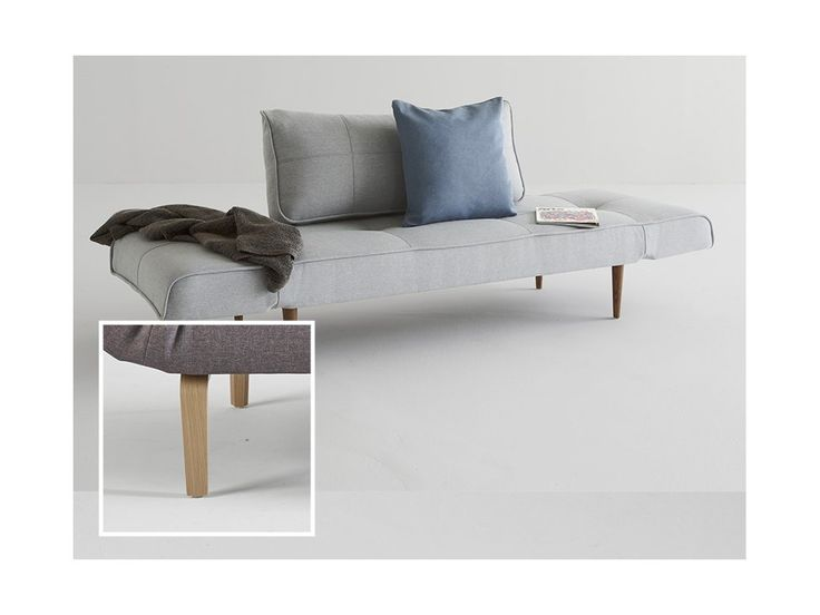 Sofa Zeal szara 552 nogi dąb lakierowany — Sofy INNOVATION iStyle — sfmeble.pl