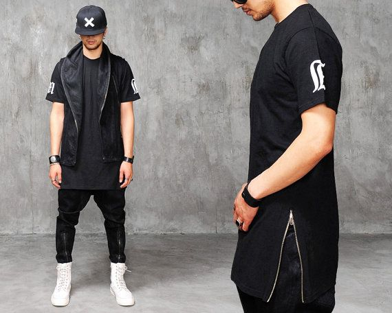 XQUARE 23 Max Extended Long T Shirt 83cm by fabrixquare on Etsy