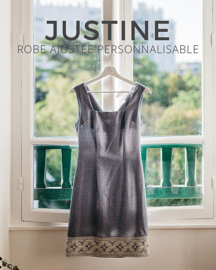 Justine est une robe ajustée féminine et intemporelle. Cette robe personnalisée est confectionnée en France sous 5 semaines.