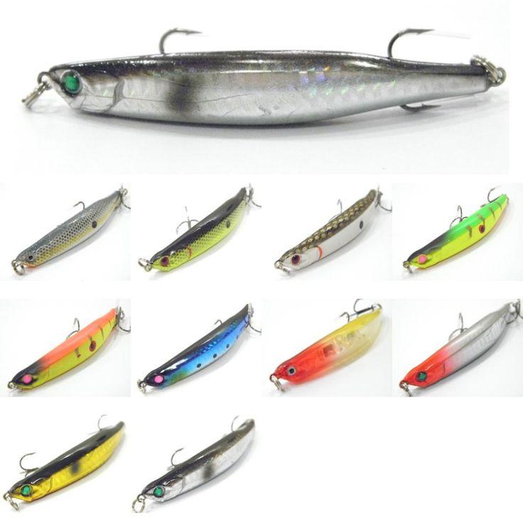 WLure 낚시 미끼 느린 침몰 죽어가는 물고기 미노 하드 미끼 8.7 그램 8.9 센치메터 W624