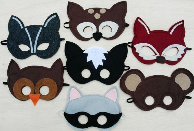 Viele Tiermasken