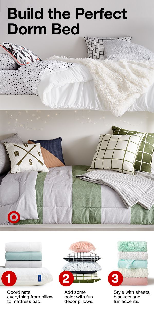 Layer On Some Cozy With A Mattress Pad Soft Sheets Cool Pillowore For Dreamy Dorm Bed