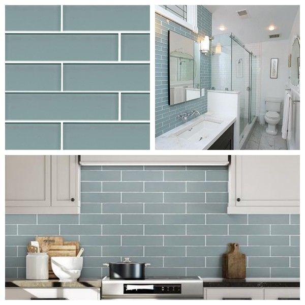 Sea Blue Crystal Gl Subway Tile For