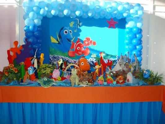 Finding nemo table set up | Nemo Party | Pinterest | More ...