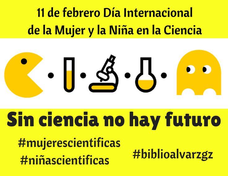En #biblioalvarzgz nos unimos a la celebración del Día Internacional de la Mujer y la Niña en la Ciencia.