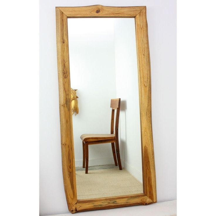 Masterfully crafted by artisans in Thailand, this handmade full-length mirror features a 5 mm true glass mirror framed in beautiful reclaimed teak wood with a warm golden oak finish. Complete the look of any room with this handsome mirror.