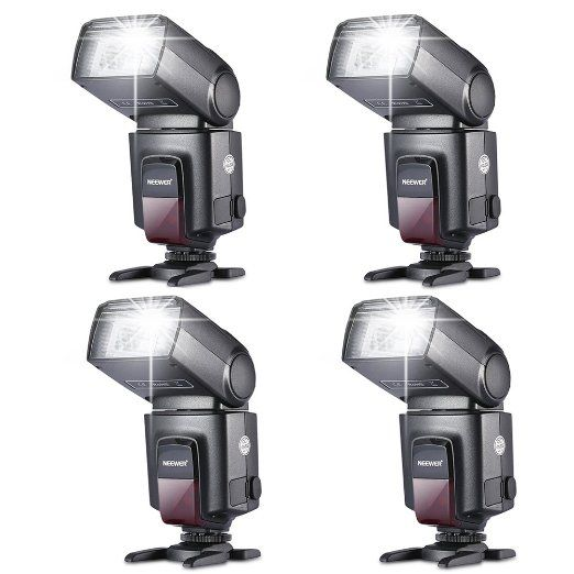 Neewer FOUR TT520 Flash Speedlites for Canon Nikon Sony Panasonic Olympus Fujifilm Pentax Sigma Minolta Leica and Other SLR Digital SLR Film SLR Cameras