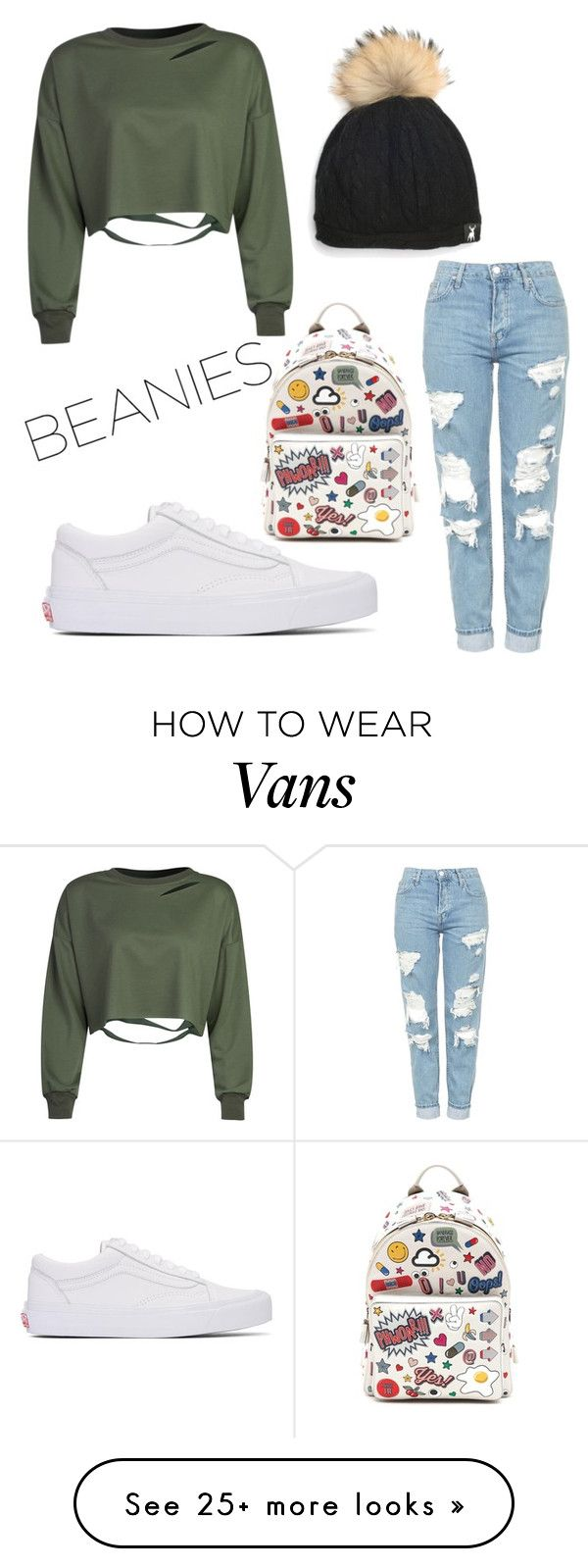"""SIMPLE LOOK"" by zgracia on Polyvore featuring Tallis, Vans, WithChic, Topshop and Anya Hindmarch"