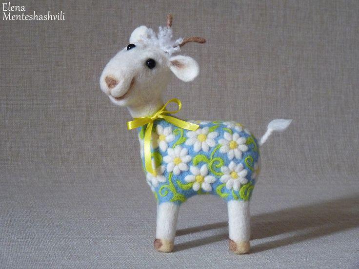 Моя красотка -коза Дереза)) Сухое валяние. Коза.