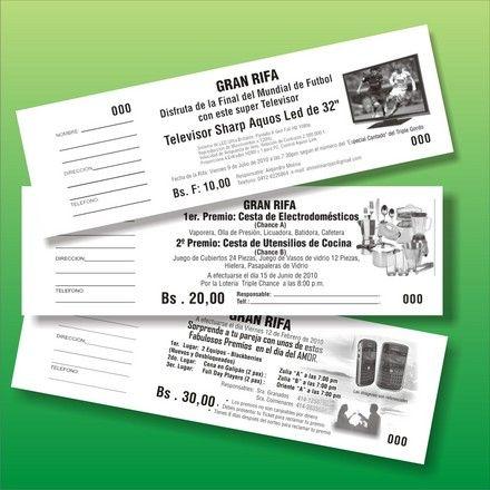 Modelos de tickets de rifa para imprimir - Imagui