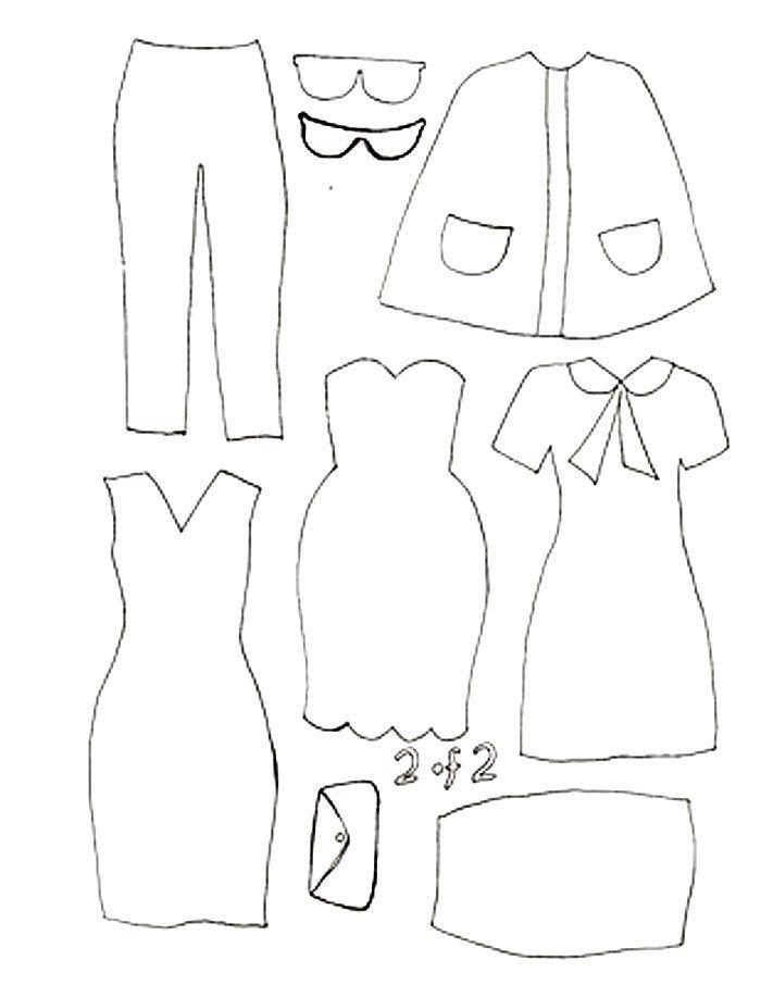 Кукольные выкройки картинки для одежды