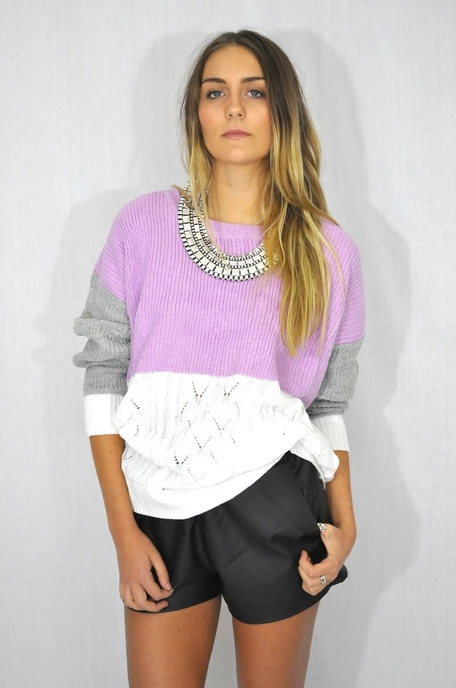 Splice Coloured Knit Lilac Style Me Darling Lovely Lilac Pinterest Products Lilacs