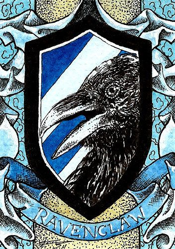 Ravenclaw Crest  ACEO Reproductions Harry Potter. $5.00, via Etsy.