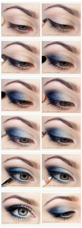 Eyeshadow Tutorials for Blue Eyes | 12 Colorful Eyeshadow Tutorials For Blue…