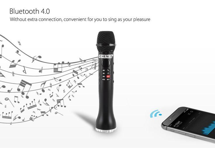 iCHENLE L - 598 Bluetooth Karaoke mikrofon hordozható hangszóró