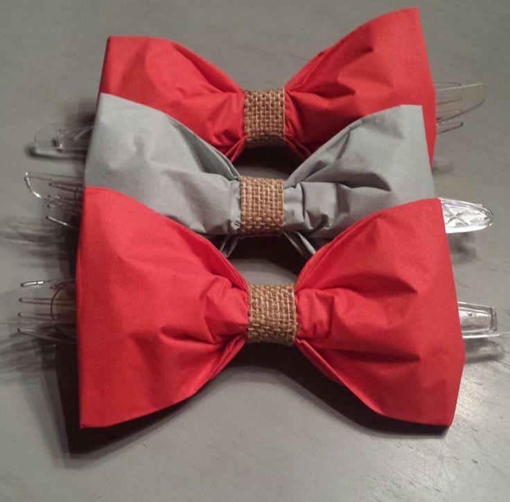Bow tie napkins little man party