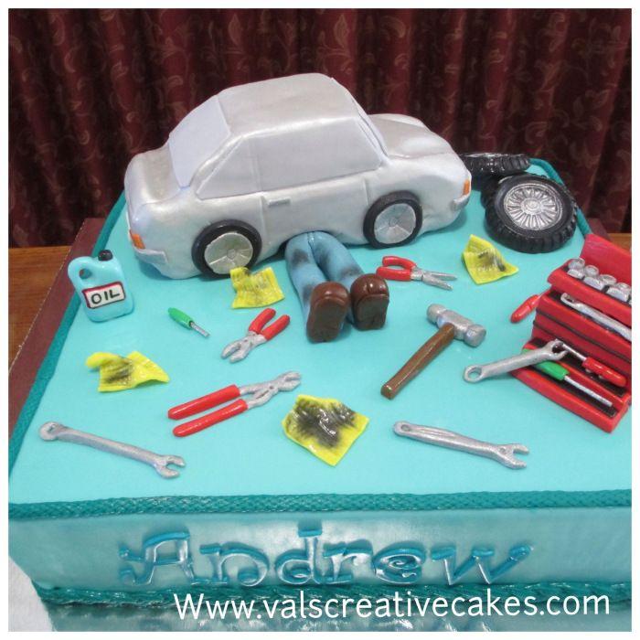 Mechanic's birthday cake