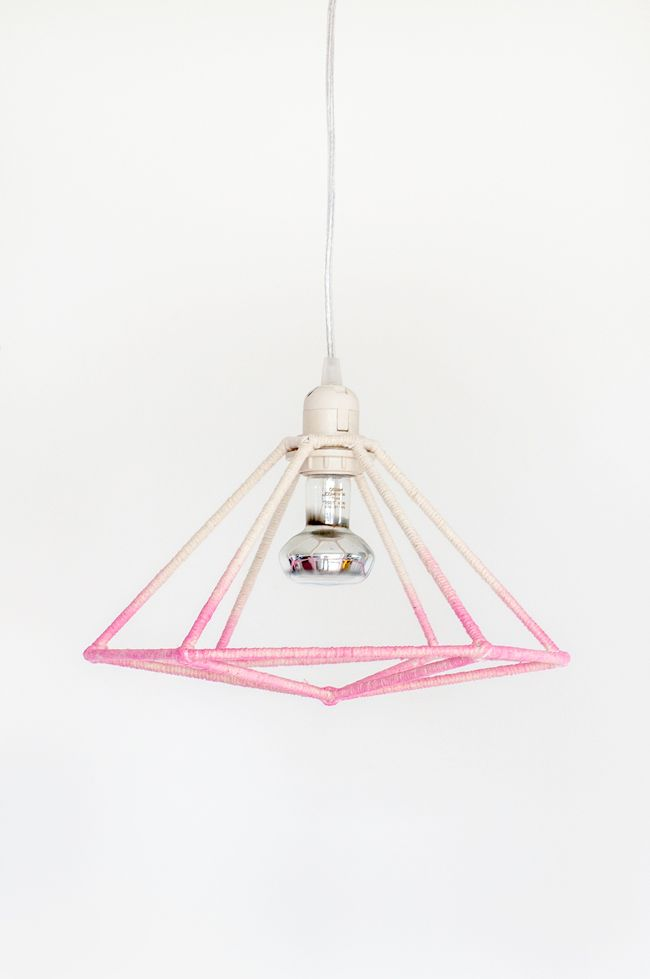 DIY: geometric ombre light