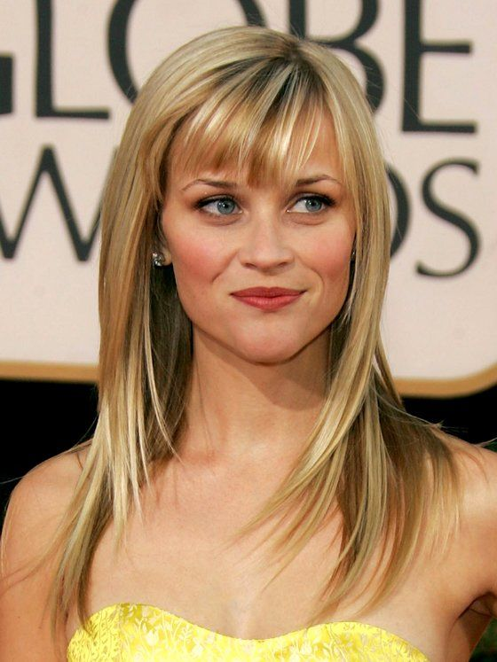 Reese Witherspoon Long Layers With Angled Bangs Hair