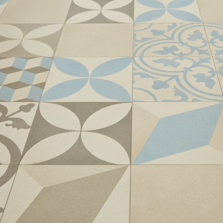 Mardi Gras 533 Filez Moroccan Patterned Tile Vinyl Flooring