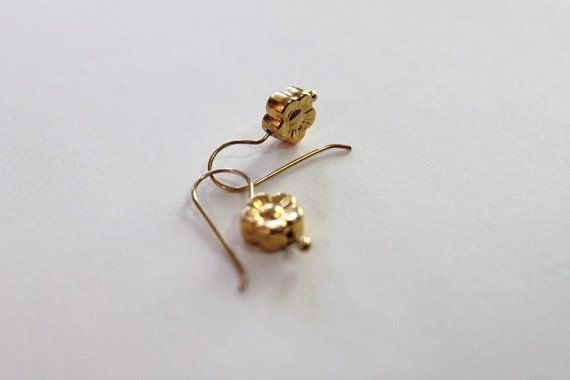 FORGET ME NOT EARRINGS 24 K Gold over Sterling Silver    Elegant, stylish classic earrings in the shape of delicate Forget Me Not flowers.