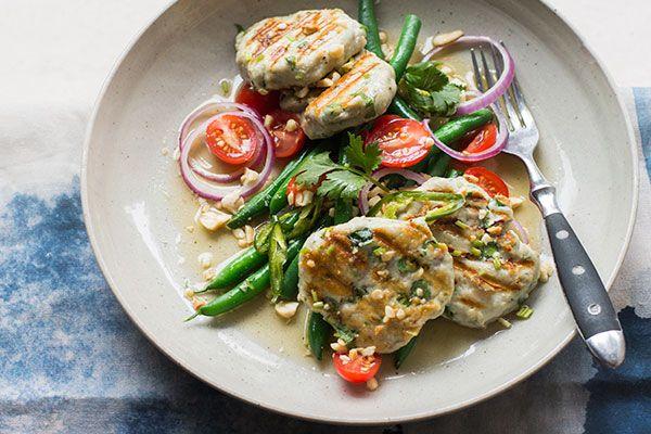 Kahawai fishcake salad