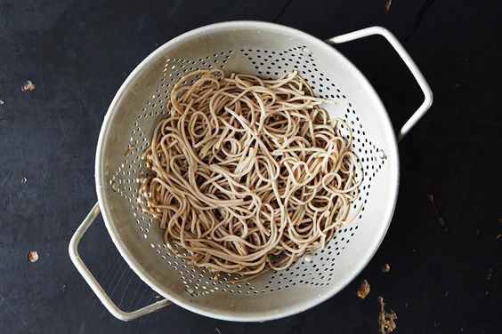How to Cook Soba Noodles on Food52: make sure they are 100% buckwheat to be GF