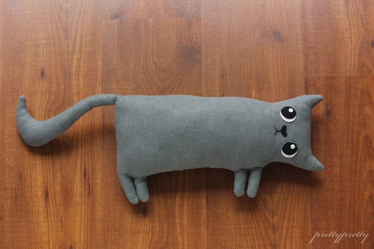 Jeromy the Grey Kitty Soft Toy by Pretty Pretty for sale on http://hellopretty.co.za