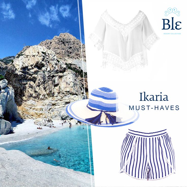 Visiting Ikaria? Welcome to the land of total relaxation and peace of mind! You do not need much to get by, just a classic white top, comfortable shorts and a hat to protect you under the sun.#BleResortCollection #SummerFashion #Style #Holidays  #Ikaria #GreekIslands #WhiteTop #Beach #BeachStyle #SummerStyle #Shorts #SummerHat