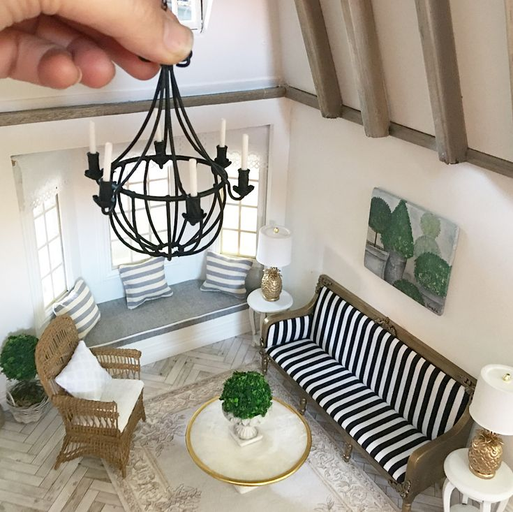 Dollhouse Chandelier Tutorial: 704 Best Miniature Lamps Images On Pinterest