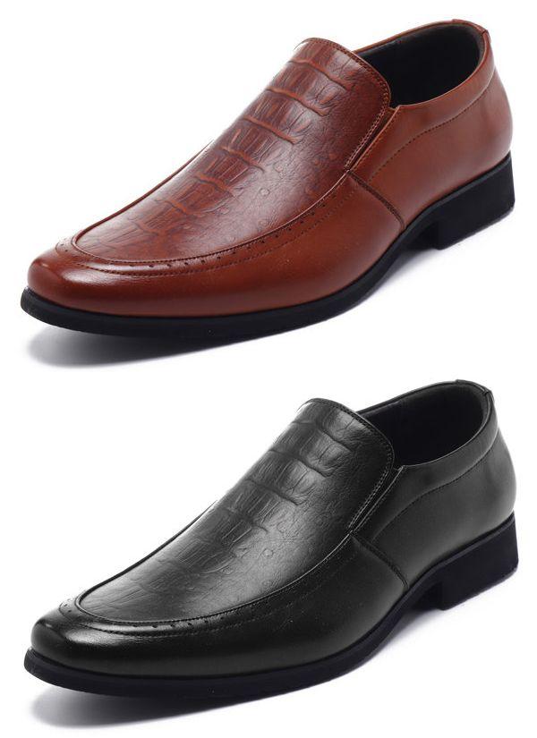 f67f25e46632d US$35.35 Men Crocodile Pattern Carved Business Formal Dress Shoes#shoes  Discount Mens Shoes,