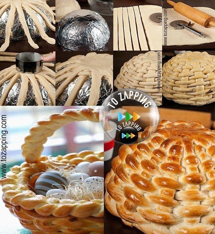 Cómo hacer una cesta de pan