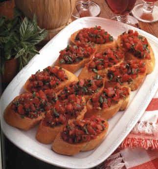 Bruschette sfiziose alle olive e pomodori