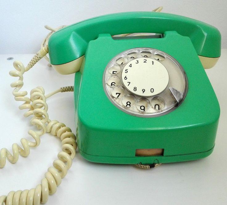 vintage Romanian retro green telephone rotary phone old school shabby chic 1972 | eBay