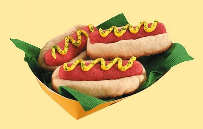 Hot Dog Cookies | Kitchen Fun :D | Pinterest