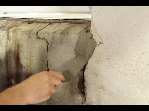 How to Repair a Crack in a Concrete Foundation - This Old House - YouTube