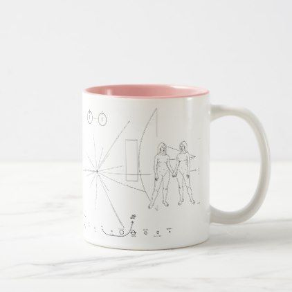Pioneer plaque Women Two-Tone Coffee Mug - love gifts cyo personalize diy