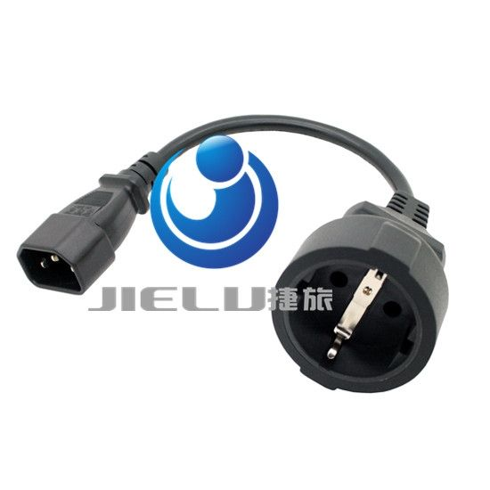 222.68$  Buy here - http://alio4s.worldwells.pw/go.php?t=32667996065 - 50 pcs,0.5m Plug to CEE 7/7 European SCHUKO Socket Female Adapter Cable,High Quality EURO UPS/PDU Power Cord