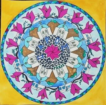 Mandala with motives from Greece