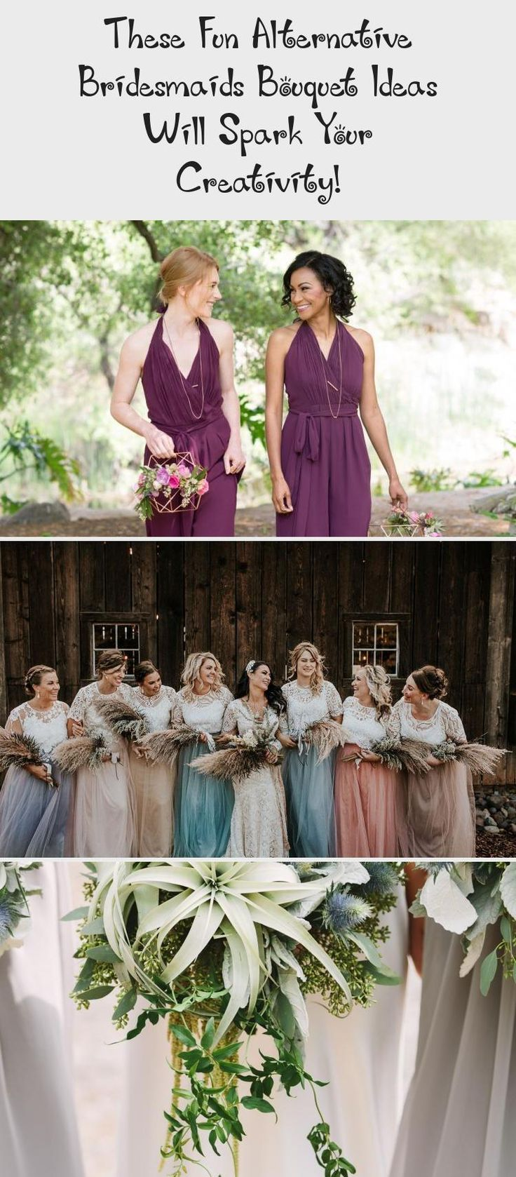 These Fun Alternative Bridesmaids Bouquet Ideas Will Spark Your Creativity! - Green Wedding Shoes #BridesmaidDressesSpring #BridesmaidDressesDustyRose #PinkBridesmaidDresses #BridesmaidDressesTeaLength #MermaidBridesmaidDresses